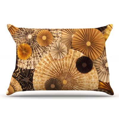 Heidi Jennings Grounded Paper Pillow Case Color: Brown