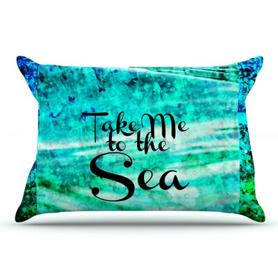 Ebi Emporium Take Me To The Sea Glitter Pillow Case