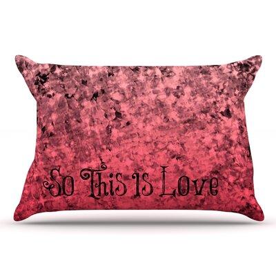 Ebi Emporium So This Is Love Glitter Pillow Case