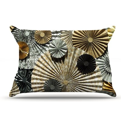 Heidi Jennings Grounded Paper Pillow Case Color: Glitter Brown