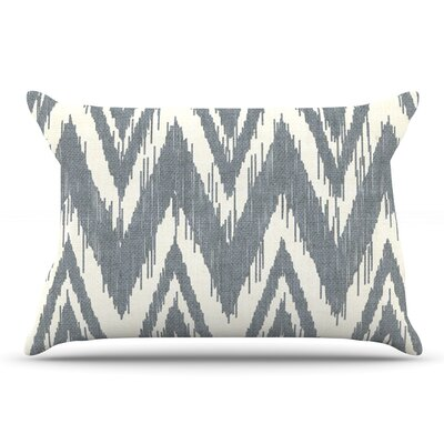 Heidi Jennings Tribal Chevron Black Pillow Case Color: Gray