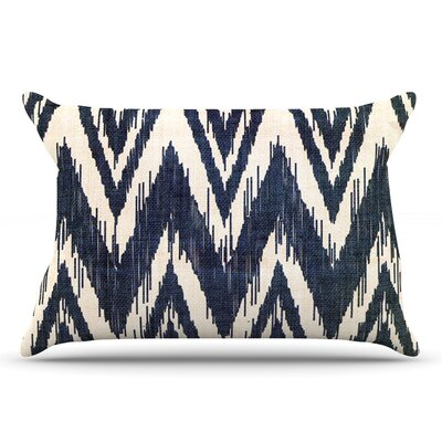 Heidi Jennings Tribal Chevron Black Pillow Case Color: Black