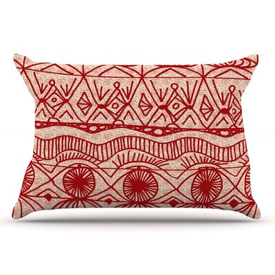 Catherine Holcombe Cranberry And Cream Pillow Case Color: Cranberry/Cream
