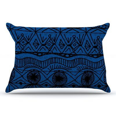 Catherine Holcombe Cranberry And Cream Pillow Case Color: Black/Blue