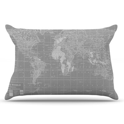 Catherine Holcombe The Olde World Pillow Case Color: Gray