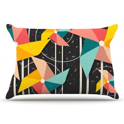 Danny Ivan Colorful Pinwheels Abstract Pillow Case