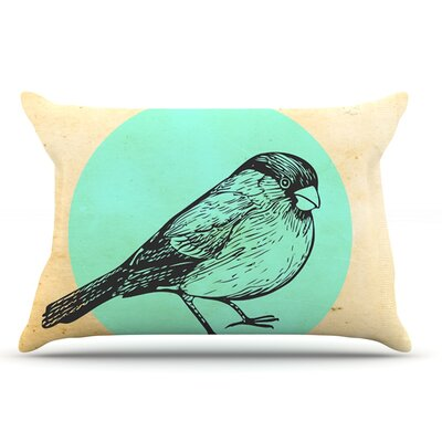 Sreetama Ray Old Paper Bird Circle Pillow Case
