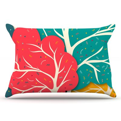 Danny Ivan Happy Forest Trees Pillow Case