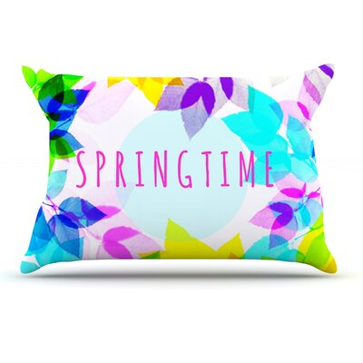 Sreetama Ray Seasons Springtime Rainbow Leaves Pillow Case