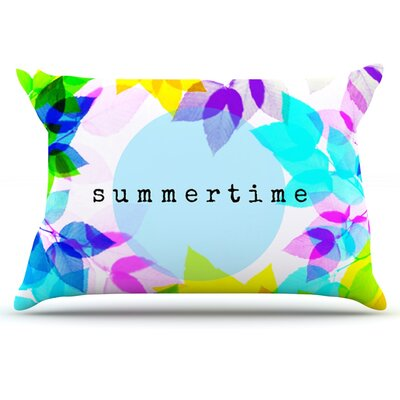 Sreetama Ray Seasons Summer Rainbow Leaves Pillow Case