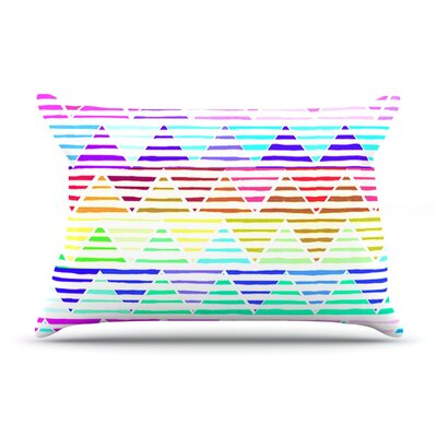 Sreetama Ray Stripes Cushion Rainbow Pillow Case