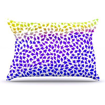 Sreetama Ray Aqua Arrows Pillow Case