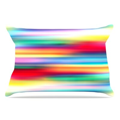 Danny Ivan Blurry Cool Rainbow Blur Pillow Case