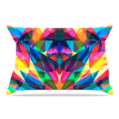 Danny Ivan Day We Met Rainbow Geometric Pillow Case