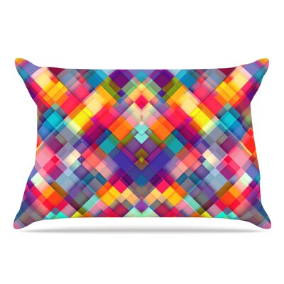 Danny Ivan Squares Everywhere Rainbow Shapes Pillow Case
