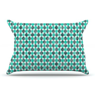 Michelle Drew Distressed Circles Pillow Case