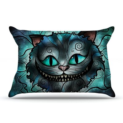 Mandie Manzano Mad Chesire Cat Pillow Case