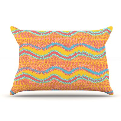Nandita Singh Pink Waves Pillow Case