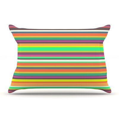 Nandita Singh Play Stripes Rainbow Pillow Case
