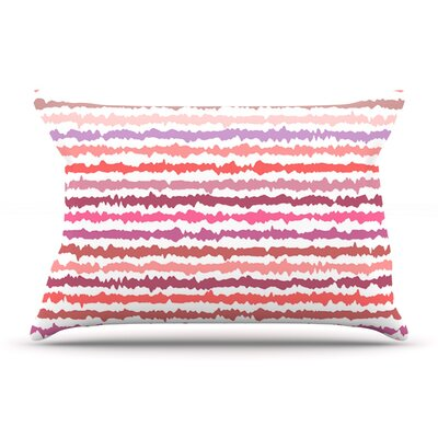Nandita Singh Blush Stripes Striped Pillow Case