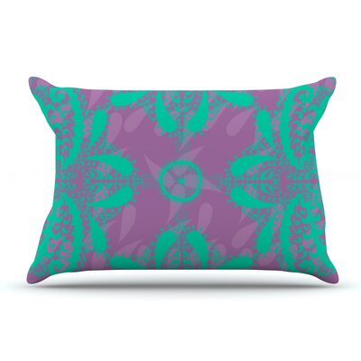 Nandita Singh Motifs Floral Pillow Case Color: Purple