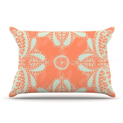 Nandita Singh Motifs Floral Pillow Case Color: Orange
