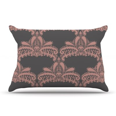 Nandita Singh Decorative Motif Floral Pillow Case Color: Bronze