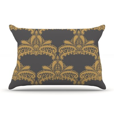 Nandita Singh Decorative Motif Floral Pillow Case Color: Cooper