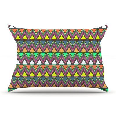 Nandita Singh Play Rainbow Pillow Case Color: Dark