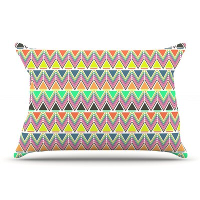 Nandita Singh Play Rainbow Pillow Case Color: Light