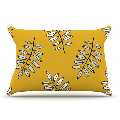 Laurie Baars Pagoda Leaf Gold Leaves Pillow Case