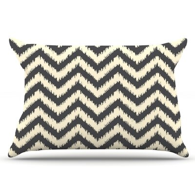 Amanda Lane Moonrise Chevron Ikat Pillow Case
