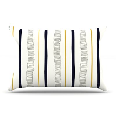 Laurie Baars Textured Stripes Abstract Lines Pillow Case