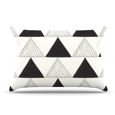 Laurie Baars Textured Triangles Geometric Abstract Pillow Case
