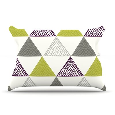 Laurie Baars Textured Triangles Pillow Case