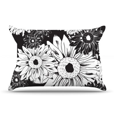 Laura Escalante Midnight Florals Sunflower Pillow Case