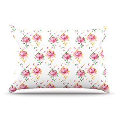 Laura Escalante Cross Stitch Flowers Pillow Case