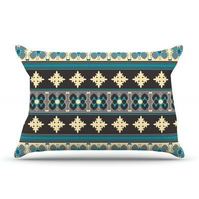 Nandita Singh Borders Pillow Case Color: Teal