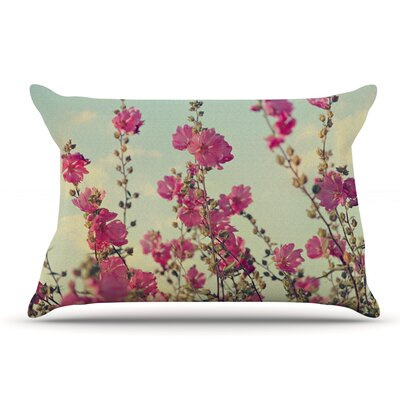 Sylvia Cook Pink Lavatera Flowers Sky Pillow Case