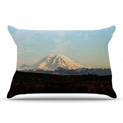 Sylvia Cook 'Mt. Rainier' Mountain Photo Pillow Case