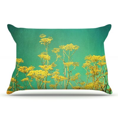 Sylvia Cook Yellow Flowers Sky Pillow Case