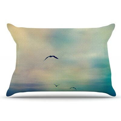 Sylvia Cook 'Freedom' Birds Sky Pillow Case