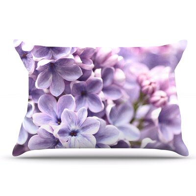 Sylvia Cook 'Lilac' Flowers Pillow Case