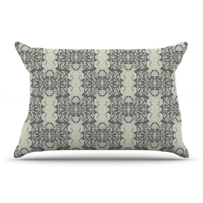 Mydeas Illusion Damask & White Pillow Case Color: Gray/Silver
