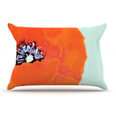 Christen Treat Vintage Poppy Flower Pillow Case