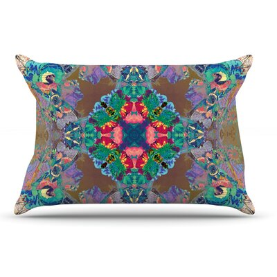 Danii Pollehn Flowery Floral Kaleidoscope Pillow Case