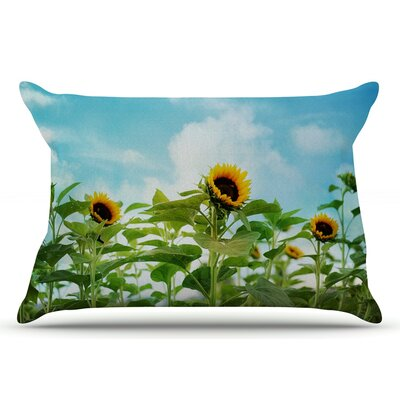 Sylvia Cook Sunflower Field Pillow Case