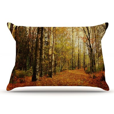 Sylvia Cook Autumn Leaves Rustic Pillow Case