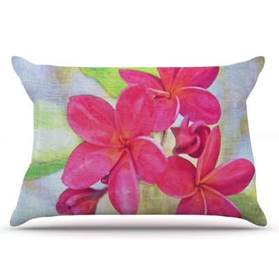 Sylvia Cook Plumeria Flower Petals Pillow Case