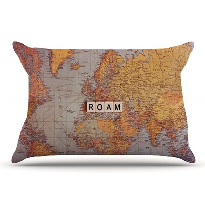 Sylvia Cook Roam Map World Pillow Case